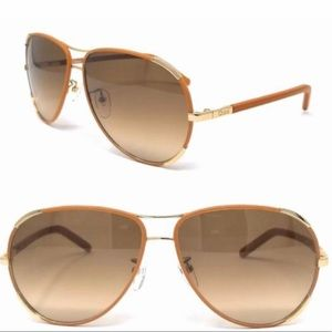 Chloe CE100SL 722 Aviator leather Sunglasses